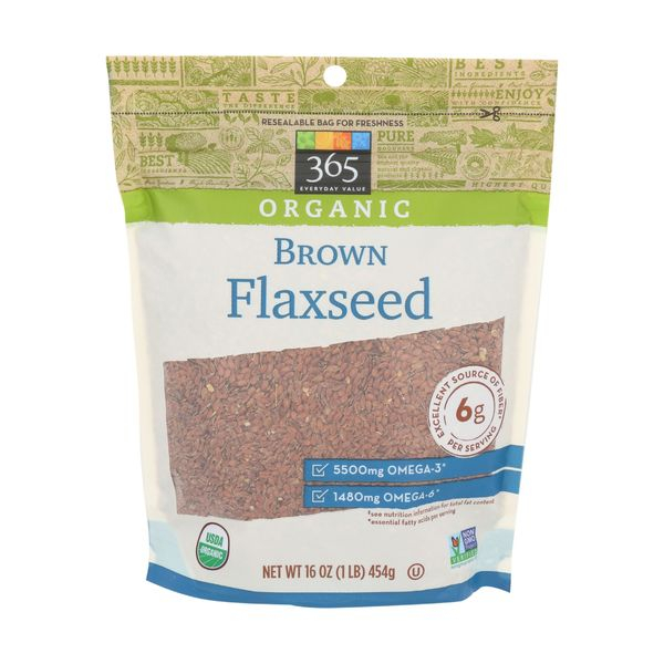 365 Everyday Value® Organic Brown Whole Flaxseed, 16 oz