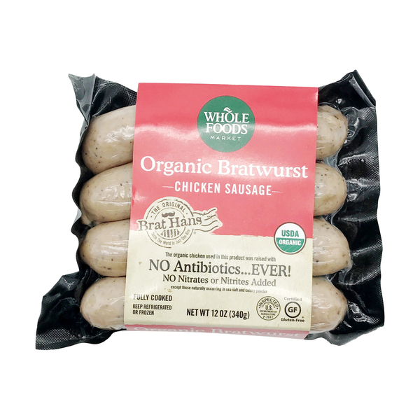 Whole foods market™ Organic Chicken Bratwurst, 12 oz