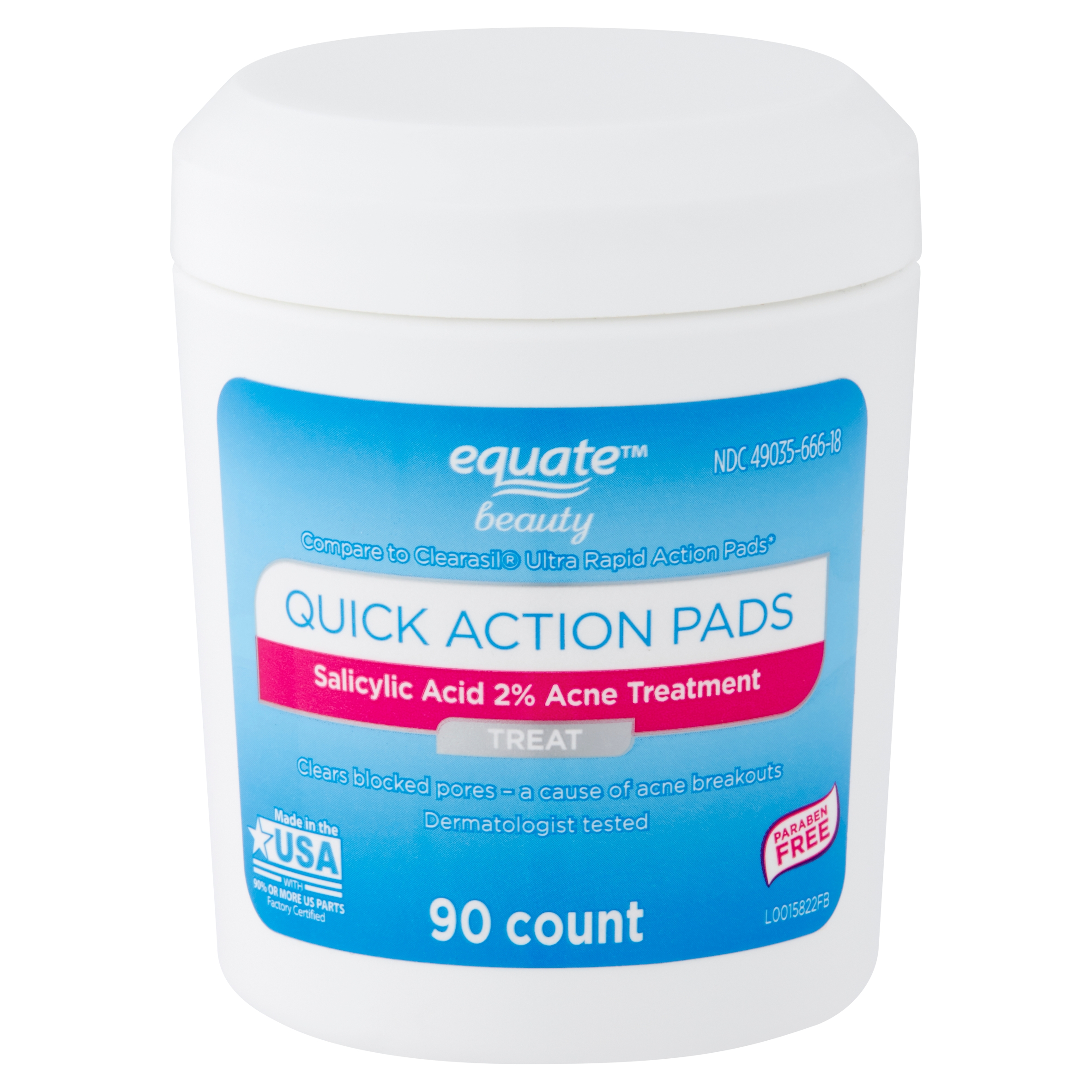 Equate Beauty Quick Action Pads 90 Count From Walmart In Dallas