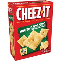 Cheez-It, Baked Snack Cheese Crackers, White Cheddar, 12.4 Oz
