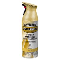 Rust-Oleum Universal Forged Hammered Gold Spray Paint and Primer in 1, 12 oz