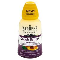 Zarbee's Naturals Cough Syrup+ Immune, Complete, Natural Berry