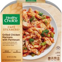 Healthy Choice Cafe Steamers Frozen Dinner, Grilled Chicken Marinara with Parmesan, 9.5 Ounce