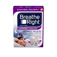 Breathe Right Lavender Scented Drug-Free Nasal Strips for Congestion Relief - 26ct