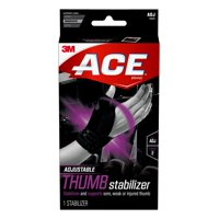 ACE Deluxe Thumb Stabilizer, Stabilizes and Supports Sore, Weak, or Injured Thumb, Adjustable, Black, 1/Pack