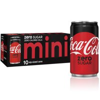 Coca-Cola Zero Sugar Mini Can Diet Soda, 7.5 Fl Oz, 10 Count