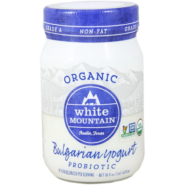 White Mountain Bulgarian Yogurt, Non-Fat, Organic, Probiotic