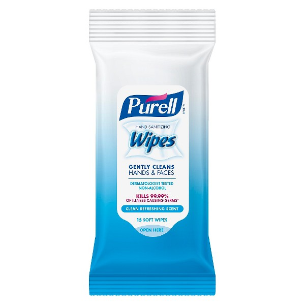 PURELL Hand Sanitizing Wipes Clean Refreshing Scent - 15ct