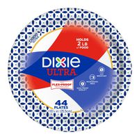 Dixie Ultra Printed Paper Plates, 10 1/16 IN Plates, 44CT