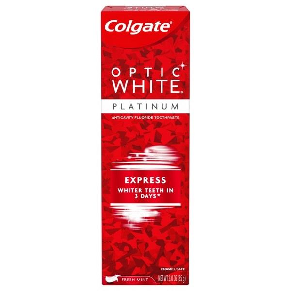 Colgate Optic White Express White Whitening Toothpaste 3oz From