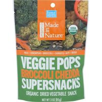 Made in Nature Broccoli Chedda Veggie Pops Organic Dried Vegetable Snack