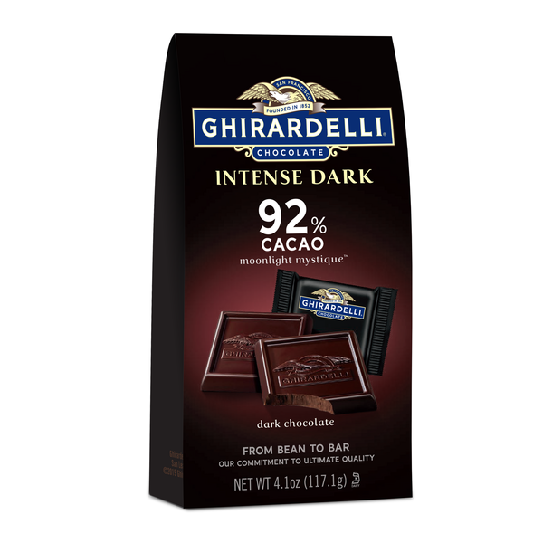 Ghirardelli Chocolate Intense Dark Chocolate Squares - 92% Cacao – Dark chocolate with fruit-forward and earthy notes