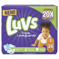 Luvs Triple Leakguards Diapers Size 3 26 Count