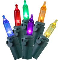 Holiday Time 300 LED Multicolor Mini Lights, 61', Indoor and Outdoor