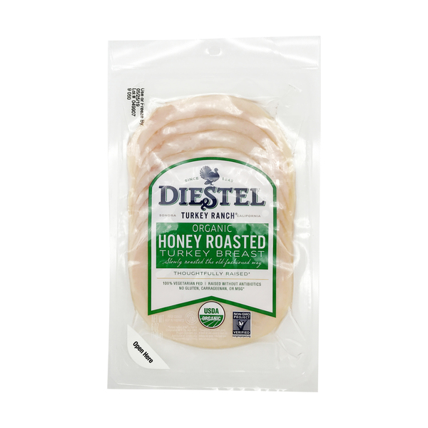 Diestel turkey ranch Honey Roasted Turkey Breast, 6 oz