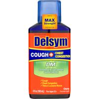 Delsym Cough + Chest Congestion DM Max Strength Liquid Cherry