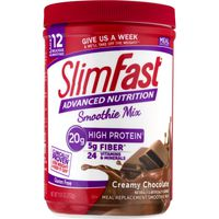SlimFast Advanced Nutrition Meal Replacement Smoothie Mix Creamy Chocolate