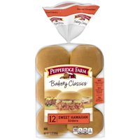 Pepperidge Farm Bakery Classics Sweet Hawaiian Slider Buns, 15 oz. Bag, 12-pack