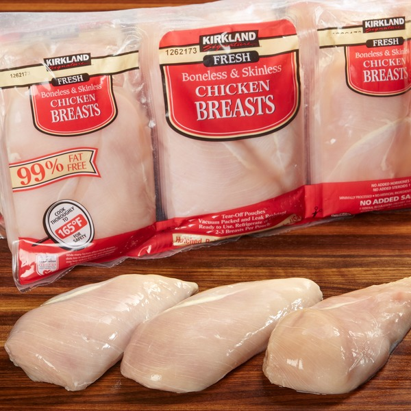 Kirkland Signature Fresh Boneless & Skinless Chicken Breasts
