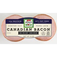 Jones Dairy Farm Center Cut Hickory Smoked Canadian Bacon, 6 Oz.