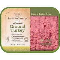 Farm to Family by Butterball No Antibiotics Ever 98/2 Ground Turkey Breast - 1lb