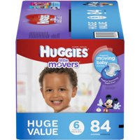 HUGGIES Little Movers Diapers, Size 6, 84 Diapers