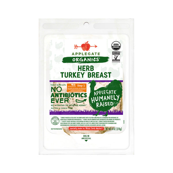 Applegate organics Organic Herb Turkey Breast, 6 oz