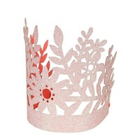 Meri Meri - Pink Glitter Crown - Wearable Party Accessories - 8ct