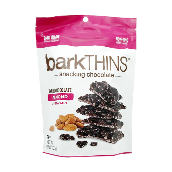 Barkthins Dark Chocolate Almond With Sea Salt Snacking Chocolate, 4.7 oz