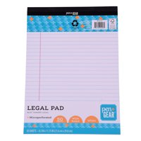 Pen+Gear Legal Pad 8.5x11 White 50 Sheets Wide Ruled