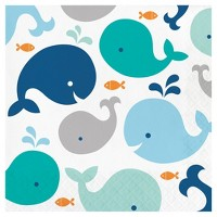 16ct Blue Baby Whale Napkins