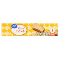 Great Value Pound Cake, 16 oz, 8 Count