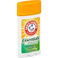 Arm & Hammer Essentials Deodorant with Natural Deodorizers, Wide Stick, Fresh 2.5 oz.