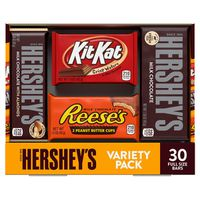 Hershey's Assorted Bar Variety Pack, 30 ct