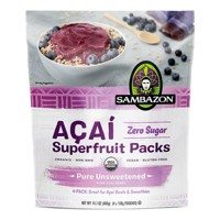 Sambazon Açaí Pure Unsweetened Superfruit Frozen Smoothie Packs - 400g