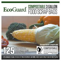 Ecogard Compostable Food Scrap Bags, 125 ct