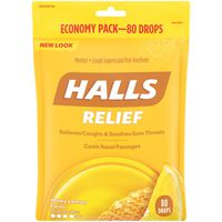 Halls Relief Honey Lemon Cough Suppressant/Oral Anesthetic Menthol Drops