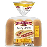 Pepperidge Farm Bakery Classics Side Sliced Golden Potato Hot Dog Buns, 14 oz. Bag, 8-pack