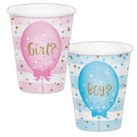 24ct 9oz Gender Reveal Paper Cups