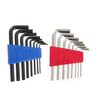 Hyper Tough 16 Piece Hex Key Set with 8 SAE and 8 Metric Sizes TW40044Z