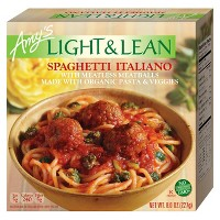 Amy's Light & Lean Frozen Spaghetti Italiano with Meatless Meatballs - 8oz