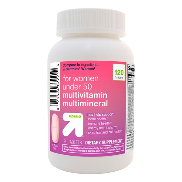 Women's Under 50 Multivitamin Dietary Supplement Tablets - 120ct - Up&Up™
