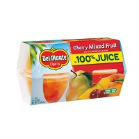 Del Monte Cherry Mixed Fruit Cups - 4ct