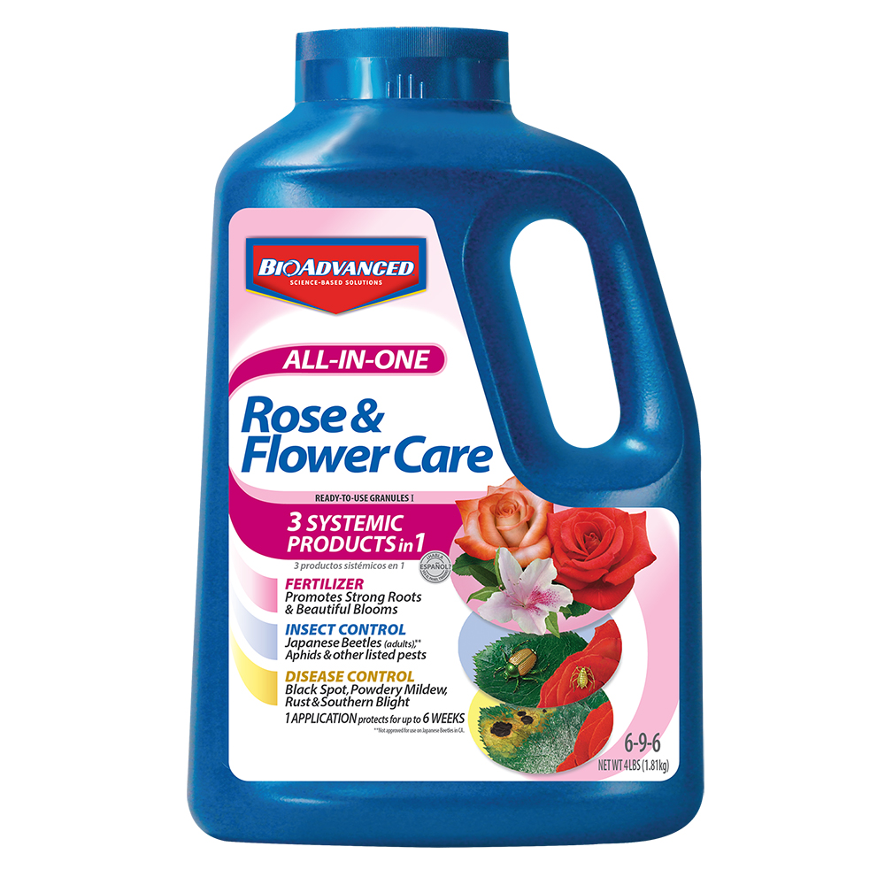 BioAdvanced All-in-One Rose & Flower Care, Granules I, 4-Pounds