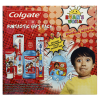 Colgate Kids Toothbrush, Toothpaste, Mouthwash, and Mystery Kid Toy Set, Ryan's World