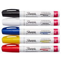 Sharpie Medium Point Oil-Based Paint Markers, 5 Count