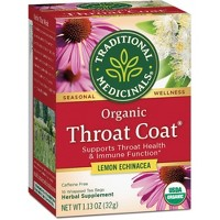 Traditional Medicinals Organic Throat Coat Lemon Echinacea Herbal Tea - 16ct