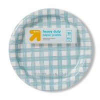 "Line Plaid Paper Plate 8.5"" - 90ct - Up&Up™"