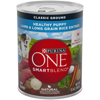 Purina ONE Natural Pate Wet Puppy Food, SmartBlend Healthy Puppy Lamb & Long Grain Rice Entree, 13 oz. Can