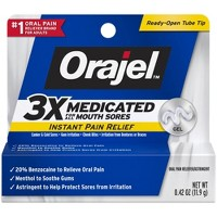 Orajel 3X Medicated For All Mouth Sores Gel - 0.42oz